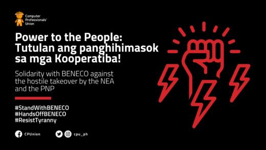 POWER TO THE PEOPLE: TUTULAN ANG PANGHIHIMASOK NG MGA KOOPERATIBA!